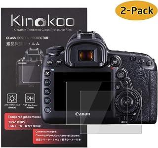 kinokoo Película de Vidrio Templado para Canon EOS 5D Mark IV Crystal Clear Film Protector de Pantalla Canon EOS 5D IV 5D4 sin Burbujas/antiarañazos (Paquete de 2)