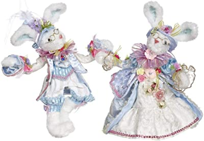 Mark Roberts 51-05236 Mr & Mrs Cottontail Rabbit 11 Inches