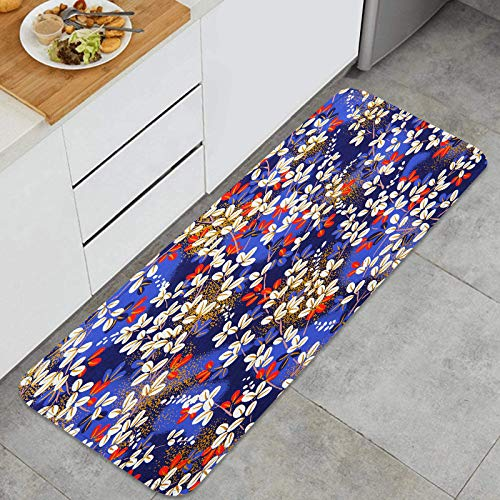 ZHIMI Alfombra de Cocina Antideslizante,Papel de Origami Tradicional japonés,Estera de Cocina Felpudos Decorativo Alfombra para Dormitorio Baño Pasillo 45 x 120cm
