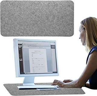 koulate Computer Desk Extended Mat, Table Keyboard Large Mouse Pad Wrist Protector Comfortable Laptop Mat Typing Writing A...