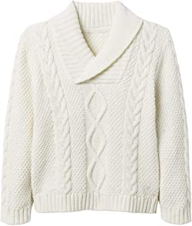 Gemijack Unisex Boys Girls Sweaters Cable Knit Shawl Collar Toddler Boy Pullover