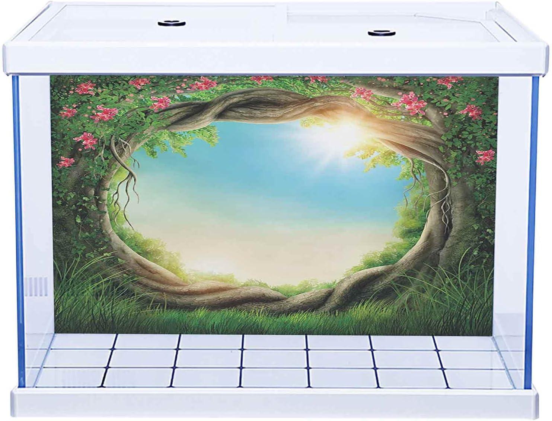 SUZM PVC Aquarium Decorative Paper Beach Long-awaited Travel 100% quality warranty! Exotic Hawaiian