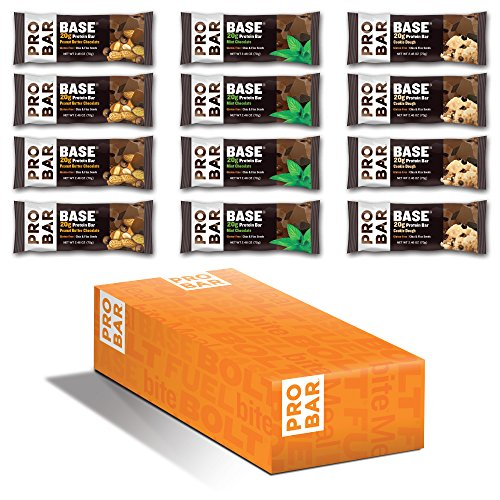 PROBAR - Base 2.46 Oz Protein Bar, Variety Pack, 12 Count - Gluten-Free, Plant-Based Whole Food Ingredients (Discontinued)