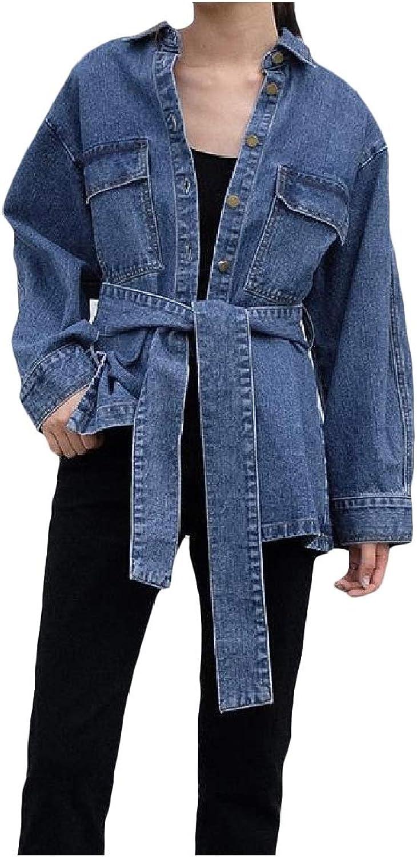 Freely Women's Autumn Silm Fit SingleBreasted Lapel Denim Jackets