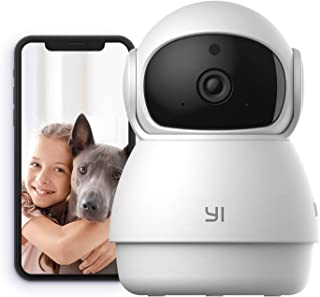 YI Security Camera Dome Guard, 1080p Pan&Tilt Zoom Home Indoor Surveillance Camera, Night Vision, Motion Detection, Two Wa...