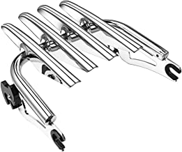 PBYMT Chrome Detachable Stealth Mounting Luggage Rack Compatible for Harley Touring Road King Street Glide 2009-2019