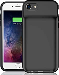 Battery Case for iPhone 6/6s/7/8/SE 2020 (4.7 inch), Enhanced 6500mAh Smart Rechargeable Portable Protective Charging Case Extended Battery Backup Pack Compatible Charger Case (Black)