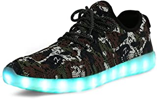 THEZX LED Light Up Shoes Men's & Women's Fashion Breathable Knitting Casual Running Sneakers