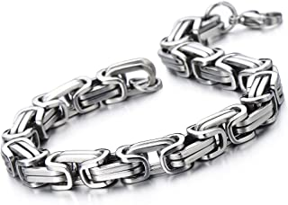 Best thick stainless steel bracelet Reviews