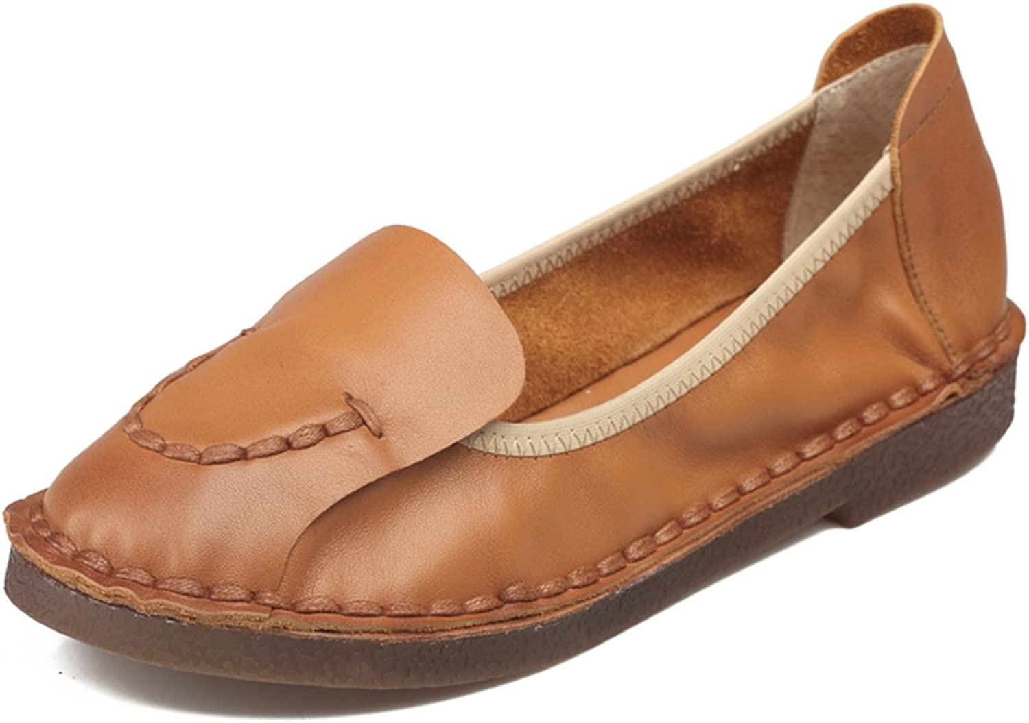 COVIBESCO Fashion Women Genuine Leather Flats
