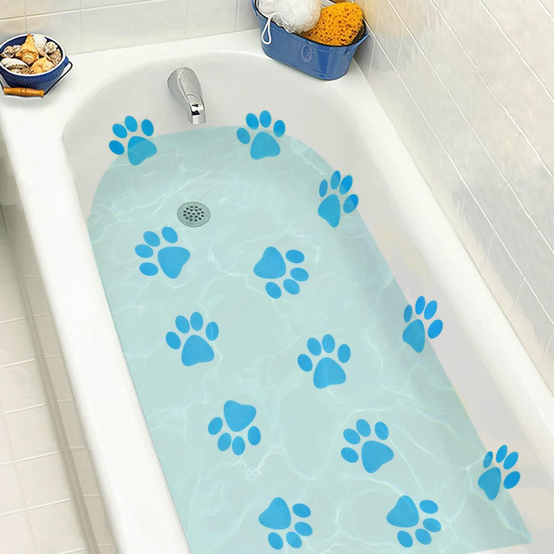 TESWEY Non Slip Bathtub Stickers Print Style Paw Arlington Mall Cheap bargain 18PCS Cartoon