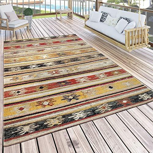 Paco Home In- & Outdoor Teppich Modern Jelle Print Terrassen Teppich Wetterfest Gelb, Grösse:200x280 cm