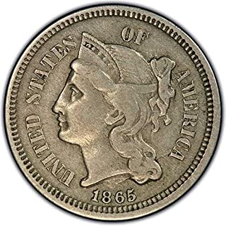 1865 three cent silver