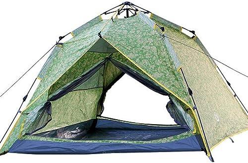 HUYYA Tente De Camping Familiale 3-4 Personnes, Tentes De RandonnéE ImperméAble Pliant avec auvent Pop Up Camping RandonnéE