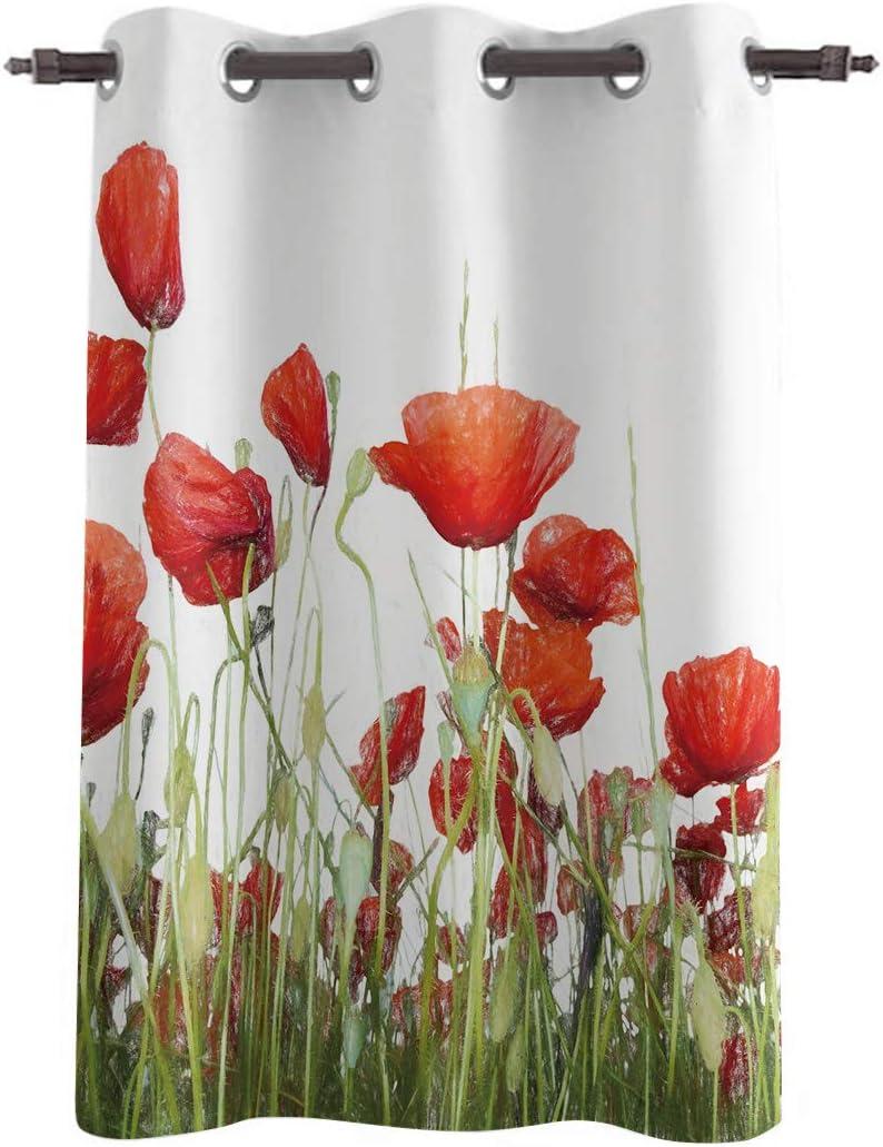 VCFUN 市場 Window Curtains Drapes - Trea Panels Curtain 激安通販専門店 Length 52inch