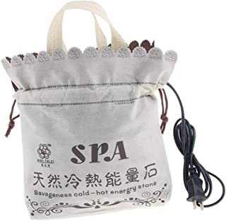 Prettyia Electric Hot Stone Heater, SPA Massage Hot Stone Warmer Heating Bag for Body Relax, Holds 16 Pcs Rock Stone