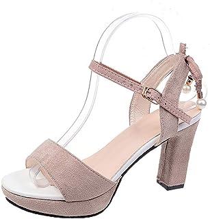 11c7b34668bf79 Femme Sandales Plates en Similicuir Poisson Bouche Tamaris Talon compensés  Chaussure Cuir Fleur Marque fermé Dames