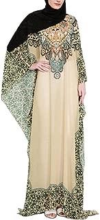 Winwinus Womens Muslim Dress Vogue Print Loose Dashiki Eid Abaya