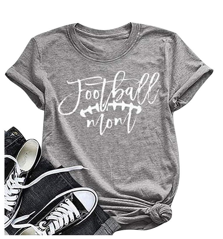 Football Mom T-Shirt Women's Summer Short Sleeve Top Funny Game Day Shirt