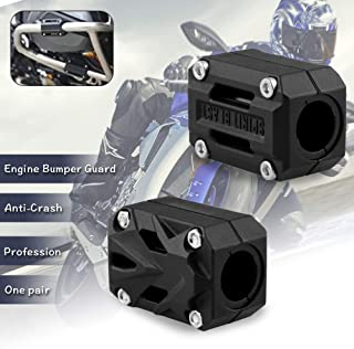 Sporacingrts 2 PCs Motorcycle Engine Bumper Guard,Modified Protection Decorative Block Rubber Cover Accessories Universal for 22mm 25mm 28mm