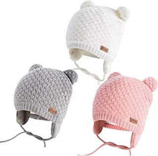 Winter Beanie Hat for Baby Kids Toddler Infant Newborn, Earflap Cute Warm Fleece Lind Knit Cap for Boys Girls