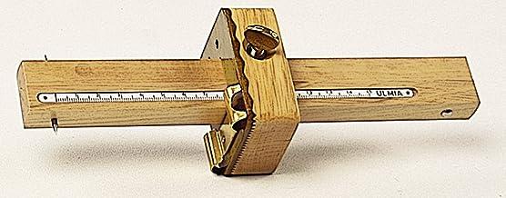 Ulmia Messwerkzeug Streichmaß - Präzisionswerkzeug, dient zum Anreißen gekrümmter Flächen, 2 hochpräzise und leicht verstellbare Anreißstäbe mit eingelegter Maßskala, mit Kurvenanschlag - 0029K