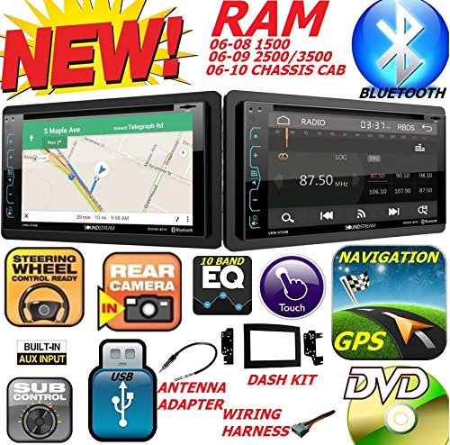 CARTRONICS-SOUNDSTREAM 2006-2010 Dodge RAM Double Din DVD CD GPS Navigation Bluetooth Radio Stereo