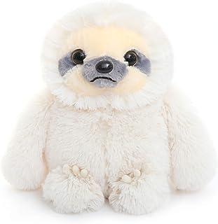 ヴェノダ ナマケモノ ぬいぐるみ ほほえみ ニコニコ なまけもの おもちゃ 抱き枕 置物 お誕生日 記念日 贈り物 40cm(ホワイト)
