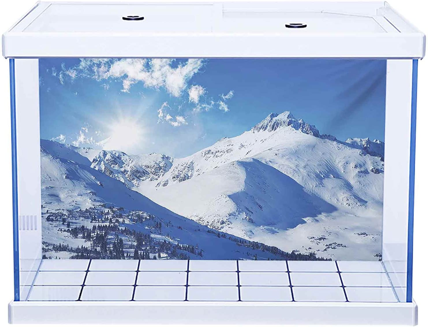 Easy to Apply and Remove Very popular! Fish wholesale Peaks Tank Mountain Winter Poster
