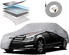 Motor Trend M5-CC-4 XL Car Cover (7-Series Defender Pro - Waterproof for All Weather - Snow, Wind, Rain & Sun - Ultra Heavy 6 Layers - Fits Up to 210
