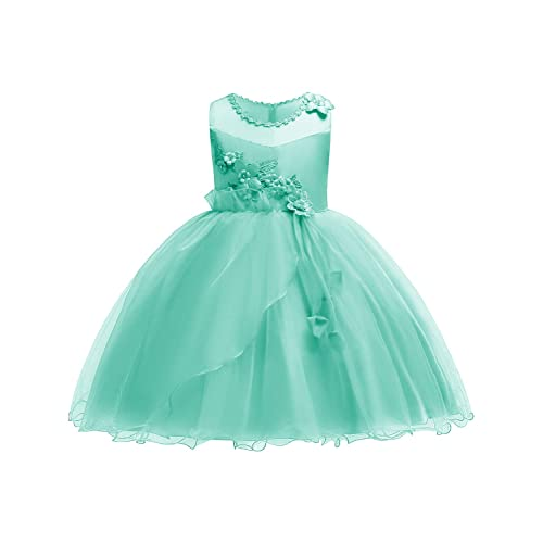 11d8996d25f2 JOYMOM Girls Flower Embroidery Ruffles Party Wedding Dresses Kids Ball Gown