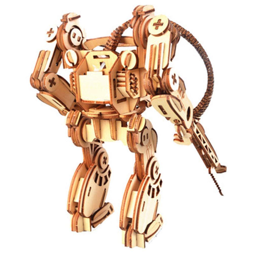 LJSHU Niños Adultos 3D Rompecabezas de Madera Robot de Corte láser ...