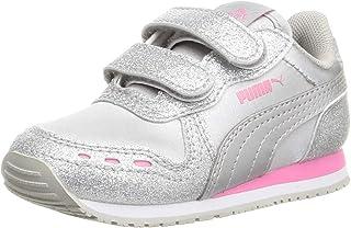 Puma Girls Cabana Racer Glitz V Inf Running Shoes, Color: Puma Silver-Sachet Pink, Size: 12 Cm