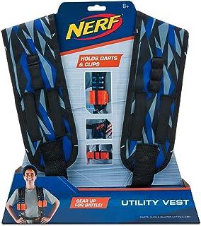 Toy Partner- Nerf Chaleco Utility Elite, Color Azul,Negro y Naranja, Talla única (NER0155)