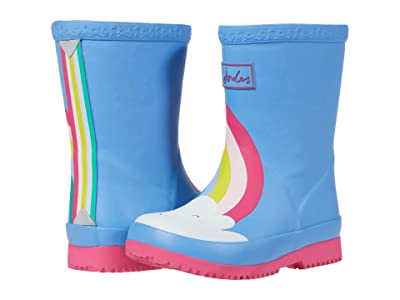 Joules Kids Welly Print (Toddler) (Blue Rainbow) Girl