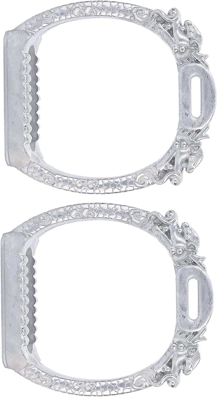KASD Estribos galvanizados, estribos para Montar Seguros y cómodos con diseño de Ranura Antideslizante para Jinete para Montar a Caballo