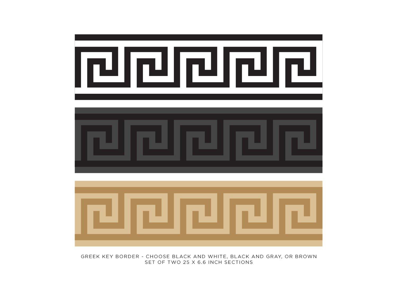 Wall Sticker Wallpaper Wall Borders Self Adhesive Greek Border Black White
