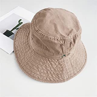 SHENTIANWEI High-Quality Cotton Solid Color Spring and Summer Sun hat Fisherman ins Wild Female Japanese pots hat Male Sunscreen (Color : Khaki, Size : One Size)
