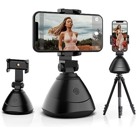 Generic Tracciamento del Viso, Rotazione di 360 ° Supporto per Telefono con tracciamento Automatico del Viso, Tracciamento della Fotocamera dello Smartphone Bastone per Selfie