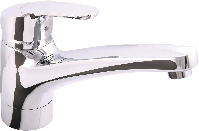 Hansa Hansamix 01142283?Single-Handle Mixer Tap for Sink Chrome 09808?3?–?Pack of 1