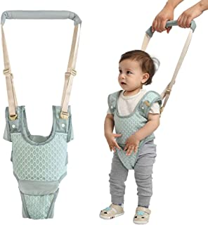 Handheld Baby Walking Harness for Kids, Detachable&Adjustable Toddler Walking Assistant with Crotch, Safe Standing & Walk Learning Helper for 6+ Months Baby