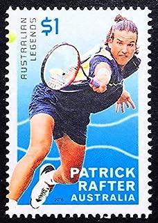 Patrick Rafter, Australian Legends, Tennis -Handmade Framed Postage Stamp Art 21828AM