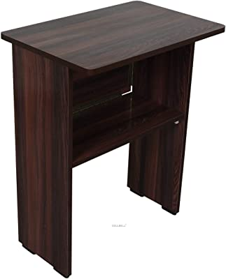 CELLBELL Wooden Folding Computer Table for Laptop Study Office Desk[Brown]