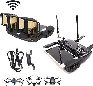 TsLYY DJI Mavic Air・Spark・Mavic2 pro・Mavic2 zoomドローン用リモコン用信号増幅器+付属ストラップ アンテナレンジブースター 信号ブースター 折りたたみ式 ゴールド