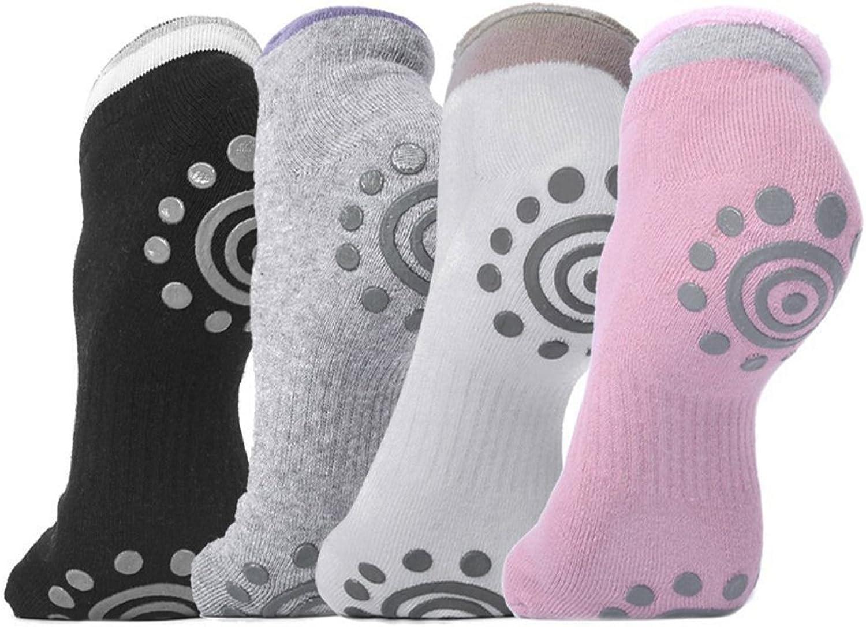 Yoga Socks Non Slip JSY-UP Pilates Socks with Grips Cotton for Women