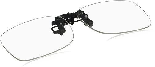 Cyxus [Transparent Lens] Blue Light Blocking Glasses Clip On Computer Eyewear
