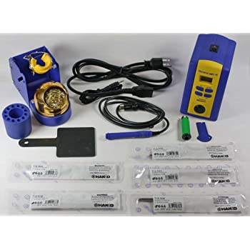 Hakko FX951-66 T15-D08,D12,D24,D32,D52 Soldering Station with Chisel Tip T15-D08/D12/D24/D32/D52, Blue/Yellow