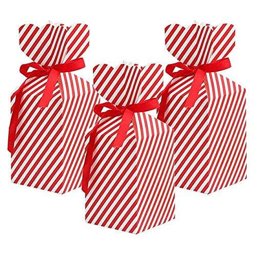 50 piezas de caja de dulces y 50 cuerdas, bolsa de regalo de Navidad