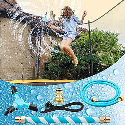 taianle Aspersor de Trampolín - Aspersor de trampolín para niños Parque acuático con rociador al Aire Libre Diversión de Verano Juegos acuáticos al Aire Libre Juguetes de jardín Aspersores