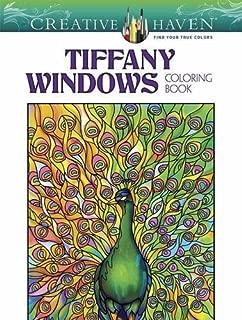 Creative Haven Magnificent Tiffany Windows Coloring Book (Creative Haven Coloring Books)